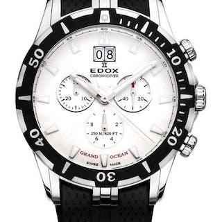 3b5762524b6d Edox - Grand Ocean Chronodiver Big Date - 10022 3 AIN - Men - 2011-present