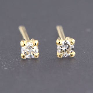 02febea78 Current sales · 18 kt. Gold - Earrings - 0.24 ct Diamond. Closed auction