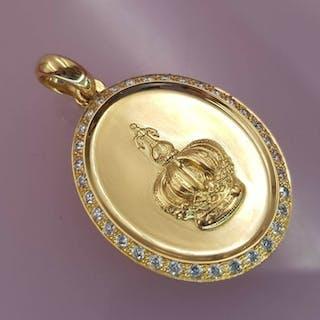 18 quilates Oro amarillo - Colgante - 0.51 ct Diamante