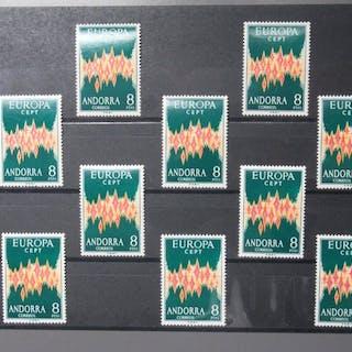 Andorra (spanisch) 1972 - Europa CEPT of 10 each - Michel 71