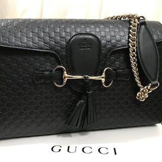 58610bd0178 Gucci - Emily Chain Microguccissima Crossbody bag