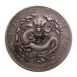 China - Yunnan - 1 Dollar (Yuan), Qing Dynasty, Kwang Hsu era ND (1908) - Silver