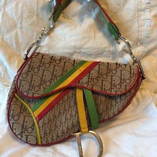 d5e17ea69e3a Christian Dior - John Galliano Rasta Saddle Bag Beige Handbag – Current  sales – Barnebys.com