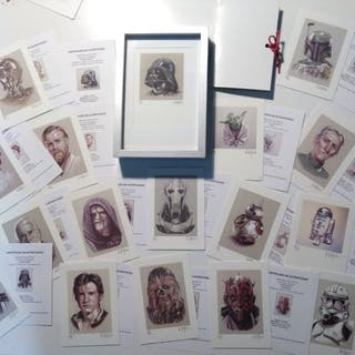 Star Wars - Lithografie Set of 17 prints- limited edtition P/A