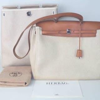bb627a4b4c54d Hermès - Herbag Hand Bag Shopper – Current sales – Barnebys.co.uk