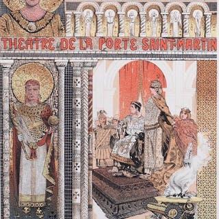 Manuel Orazi - Les Affiches Illustrées - Lithographie originale 1896: Theodora