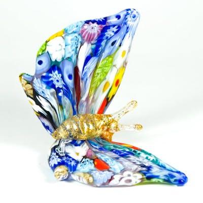 Campanella Livio Murano Millefiori Murrine Butterfly Sculpture Barnebys
