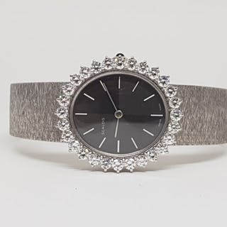 Scaldis Diamond Wristwatch - White Gold Ladies Vintage...