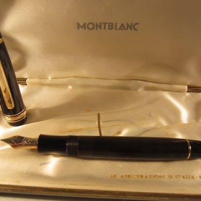 Montblanc Meisterstuck 144 in celluloide nera rara e...