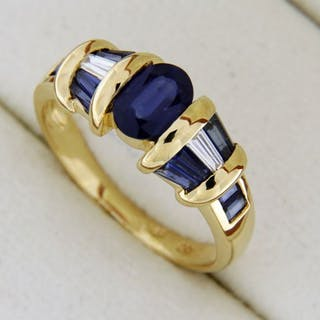 evagold - 18 kt. Gold - Ring - 2.40 ct Sapphire