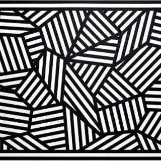 Sol Lewitt- Complex Form with Black and White Bands