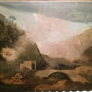 Italian school - Diane and Acteon in a landscape