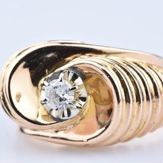 18 kt. Yellow gold - Ring - 0.20 ct Diamond