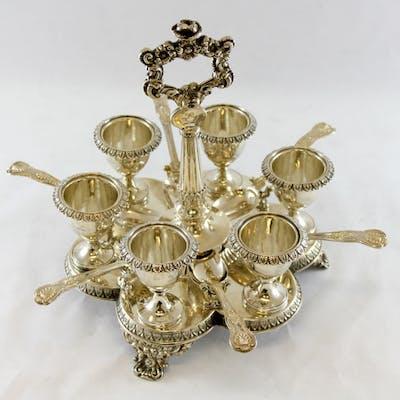 A George IV cruet set- .925 silver - Joseph Angell (I), London - U.K. - 1826