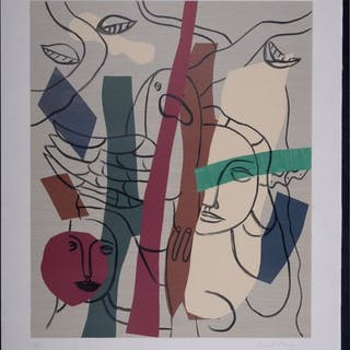 Fernand Leger - Visages et oiseaux