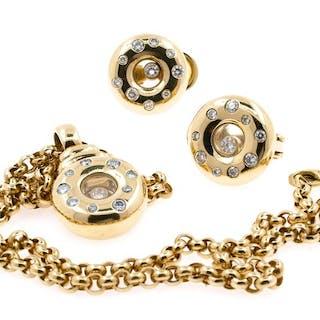 Chopard - 18 carats - Parure Diamant
