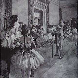 Edgar Degas (1834 - 1917) (d'après)- La classe de Danse