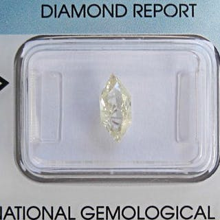 1 pcs Diamante - 0.69 ct - Esagonale brillante - W-X Light Yellow - I2