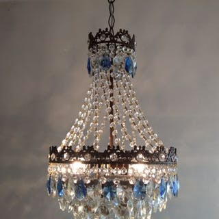 A brass and crystal chandelier of recent manufactue current sales view larger images aloadofball Images