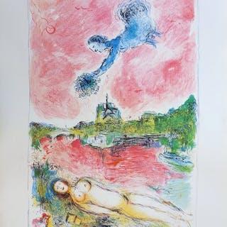 Marc Chagall (d'après) - Les amoureux de Notre Dame