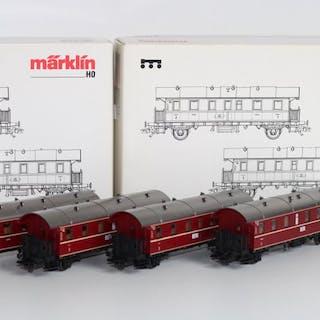 Märklin H0 - 43138/43139 - Personenwagen - Zwei Sätze von...