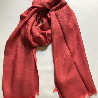 Gucci wool and silk scarf