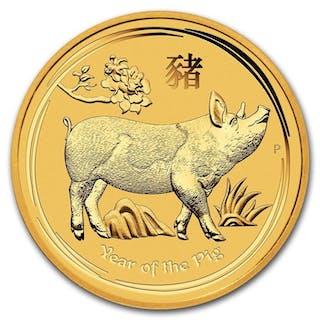 Australia - 15 Dollars 2019 'Year of the Pig' - 1/10 oz - Gold