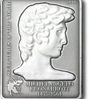 Cook-Inseln - 5 Dollars 2010 'Michelangelo David'...
