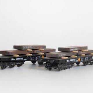 Märklin H0 - 48664 - Set mit Güterwagen - Trolley mit 2...