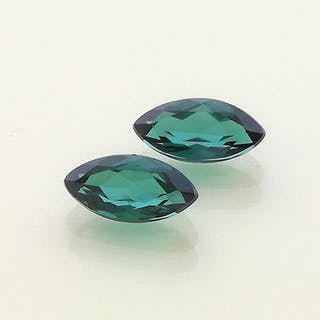 4b735d911594 Pair of Tourmalines - Total weight 1,40 ct No Reserve Price – Current sales  – Barnebys.com