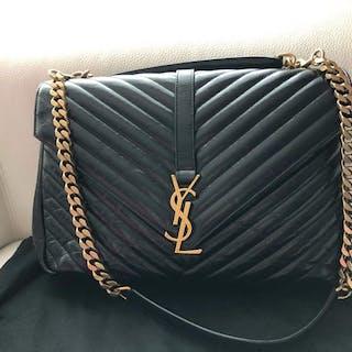 7674098260ec Yves Saint Laurent - College Monogram Bag Matelasse Chevron Shoulder bag