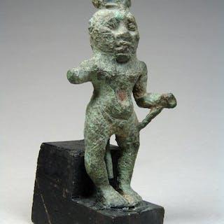 ägyptisch Bronze Figur von Bes