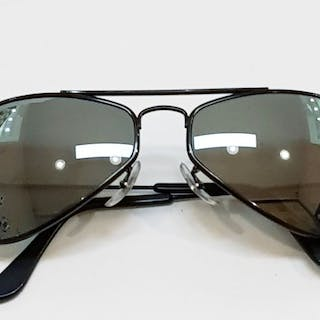 f90bbe40b4 Ray Ban Bausch   Lomb - Aviator Air Boss - Black with... – Current sales –  Barnebys.com
