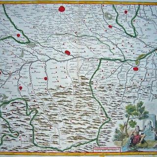 Italy Albrizzi Carta Geografica Dei Territori Di Pavia 1721