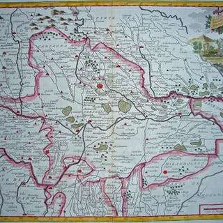 Italy Albrizzi Carta Geografica Del Ducato Di Mantoua 1721 1750