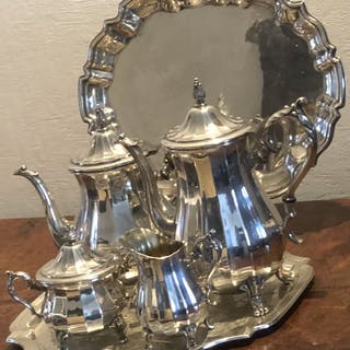 silver plated coffee /teaserving set- Silver plated - U.K. - 1875-1900
