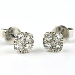 a4dd7d91f 18 kt. White gold - Earrings Diamond – Current sales – Barnebys.com
