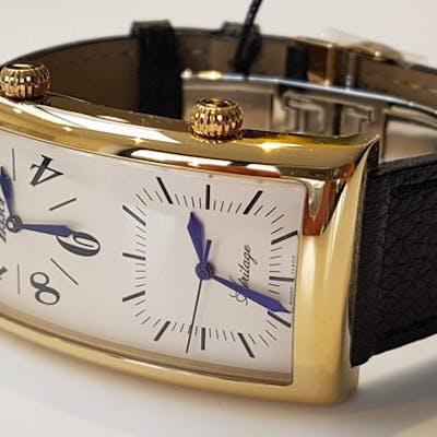Tissot - travel dual time retro men gold plated watch unworn- Men - 2018