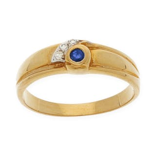 18 kt. Yellow gold - Ring - 0.10 ct Diamond