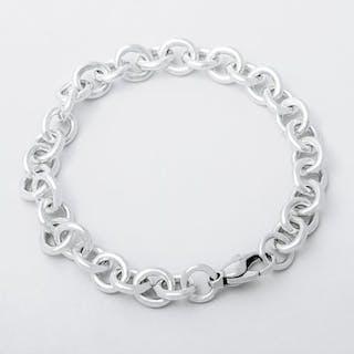 72c5752fd5667 Tiffany   Co 21774049 Round Link Bracelet Silver - Bracelet – Current sales  – Barnebys.com