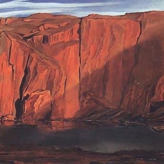 Salvador Dali - Femme devant les rochers