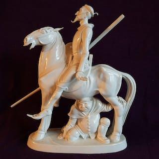 Münch Khe Willy - Meissen - Statuetta/e, Don Quijote e Sancho Pansa
