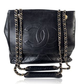 Chanel - Quilted Leather CC Logo Tote Borsa shopper