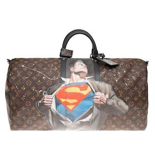 "Louis Vuitton - ""SuperBag"" Keepall 55 bandoulière..."