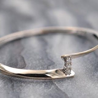 18 carats Or blanc - Bracelet - Diamants