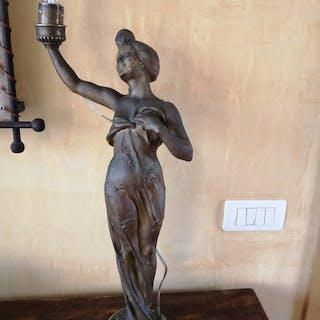 C. Bonnefond  - Lampada da tavolo, Art Nouveau / Liberty
