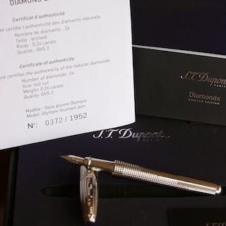 "Dupont - Exceptionnel stylo plume 18 kts ""Limited Edition"" DIAMOND DROPS"