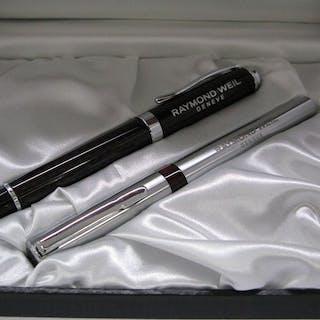 2 pieces Raymond WeilBallpoint PEN - Kugelschreiber - seltener Sammler