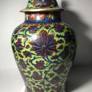 Vaso (1) - Porcellana - Amsterdam bont - Cina - Kangxi (1662-1722)