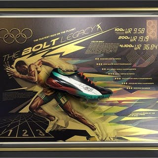 Usain Bolt - Signed Running Shoe - Framed